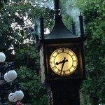 "the nearby ""Steam Clock"" in Gastown"