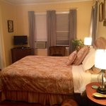 We LOVED our room, so simple clean and comfortable. Decorated perfectly to match our taste!