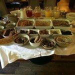 Cold breakfast spread