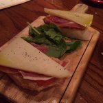 Manchego cheese and ham.