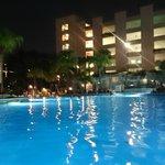 Pool at night time