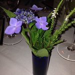 Great food and beautiful flowers at PB