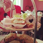 tea service petit fours and scones