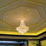 Fancy lobby chandelier.