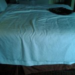 "This was how housekeeping ""made the bed"" the second day."