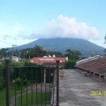 Volcano Agua from terrace of Chez Daniel