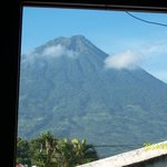 Volcano Agua from room #4 of Chez Daniel