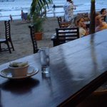Dining Solo facing the action on the Beach