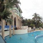 Zona de piscinas y playa