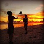 coconut ball sunset