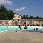 Pool - nice and big - afternoon fun after the lake....