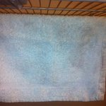 Blue/bleachy stained washcloth