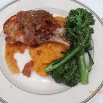pork chop/sweet potatoes