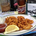 Hackney's on Harms. Fried clams and a Schlitz.