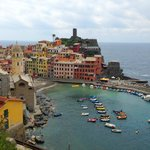 View of Vernazza from early on in the hike