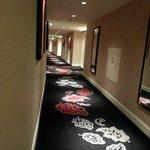 hallway leading to room