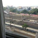 Train station next door