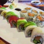 Colorful maki roll