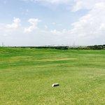 Houston skyline from 18 tee box