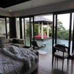 Uitzicht vanuit de prachtige villa