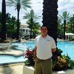 Joey, who works poolside & provides service with a smile.