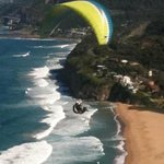Paraglider at Bald Hill, Stanwell Tops