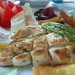 Pechuga de pollo (segundo plato del menu del día)