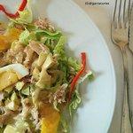 Ensalada de Codorniz (primer plato del menú del día)