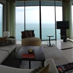 270 degree full sea view living room.  Massive.  Could work from here any day.