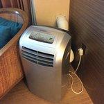 The in-room air conditioning - a free-standing unit!