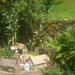 A small model village in the garden