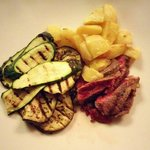 Beef with grilled vegetables