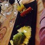 Trio d'ananas et glace basilic