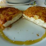The cheese pie to die for with honey and sesame seeds