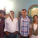 Khan Bhai with us