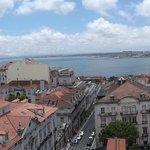 Aussicht von der Dachterrasse des Hotels Bairo Alto
