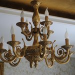 Decorative light fitting in Reception
