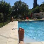 La piscine très bien entretenue, c'est le pied!