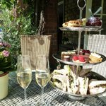 Delicious champagne afternoon tea.