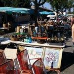 Flea market/antiques in L'isle sur le Sourge.