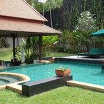 Pool and garden.