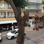 Shops directly opposite- view from room 104
