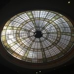 Beautiful glass dome in reception