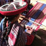 Traditional weaving Chinchero in the Sacred Valley.
