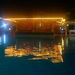 Pool bar at night when closed
