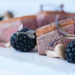 Creedy Carver duck with blackberries