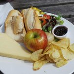 Cheese Ploughman's with a huge block of cheese!