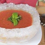 гаспаччо в ледяной тарелке