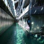 Zwembad grenzend aan kamers