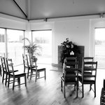 Living space altered for ceremony
